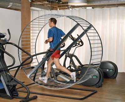 Wheel-treadmill