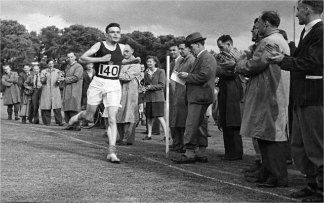 Alan Turing running