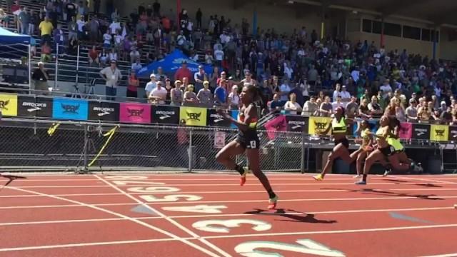 candace-hill-100m-dash-record