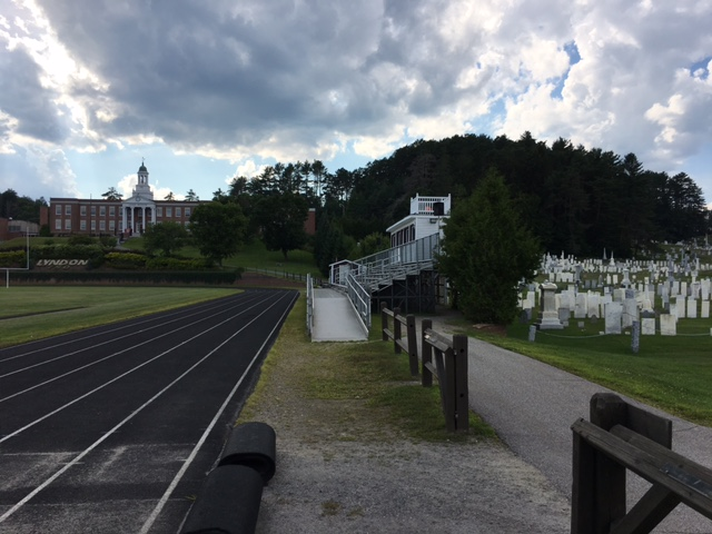 track and cemetery